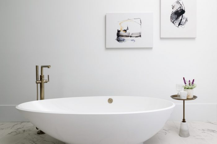 Interior Design, Designer Bathtub Vignette