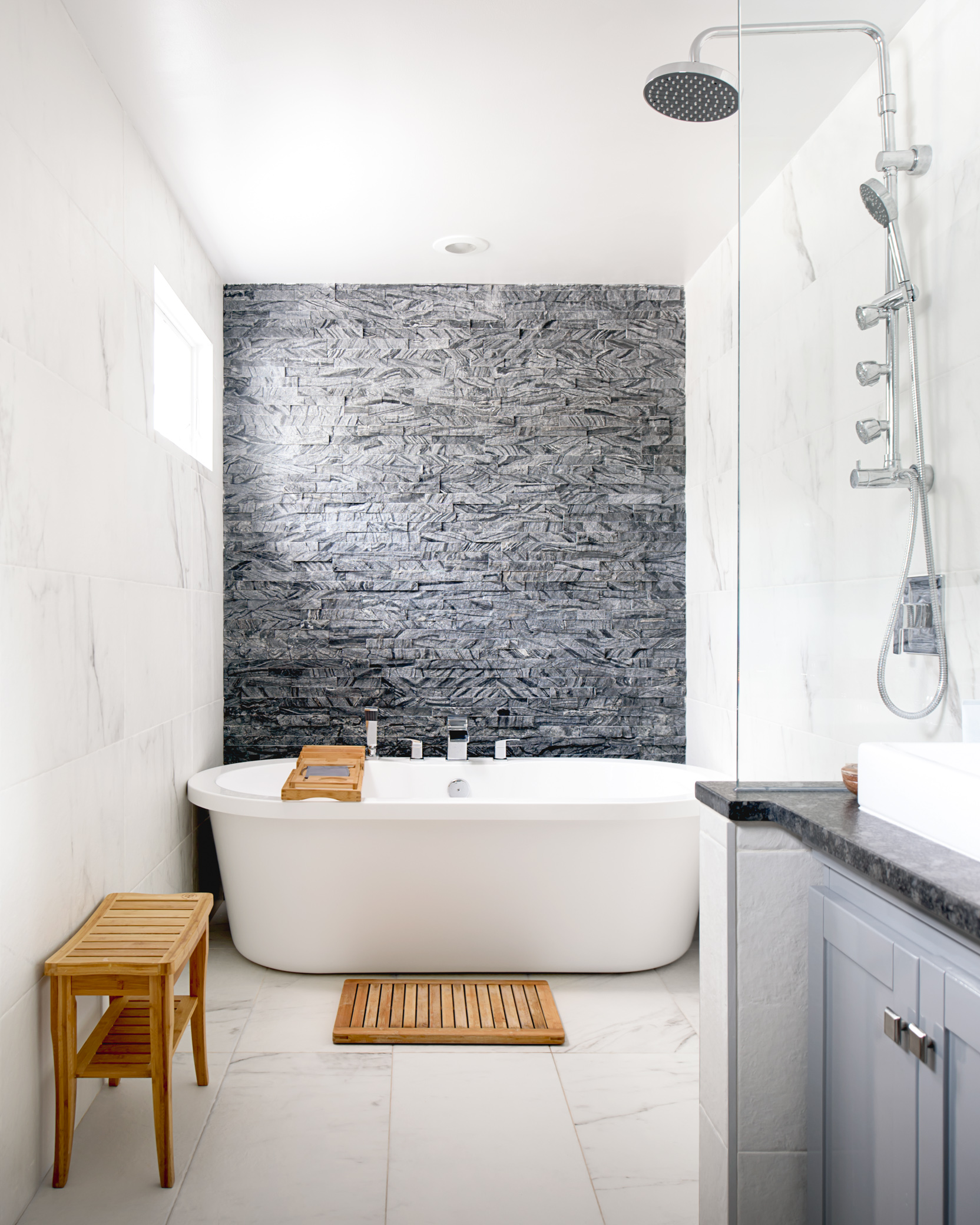 Renovated Owner's Suite Bathroom, Design & Build - © Daniel Green, DannyDanSoy Photography
