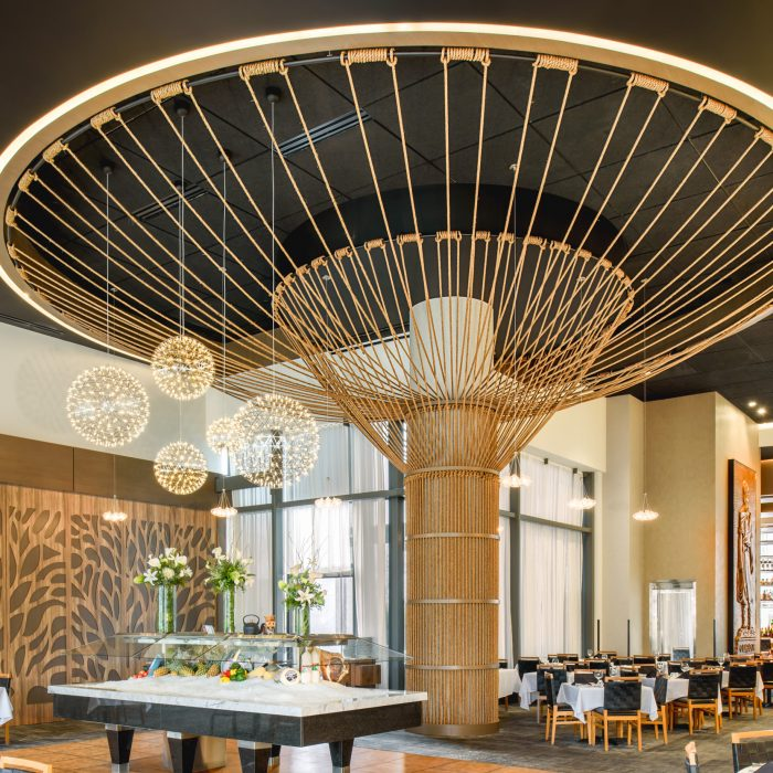 Rope Tree Sculpture at Tysons Fogo De Chão, by Windy Chien, Commercial Interior Design & Architecture
