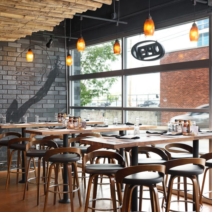 Restaurant High-Top Seating Area, Commercial Interior Design & Architecture